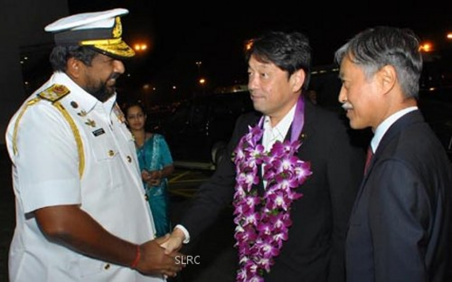 Japanese defense minister arrives in Sri Lanka