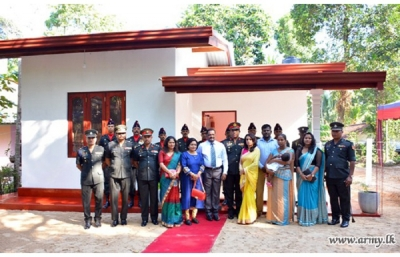Expat Tamil couple supports to build houses for disable War Heroes