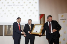 IFIMES presented a high award to Sri Lanka Foreign Minister
