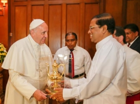 His Holiness Pope Francis calls on President