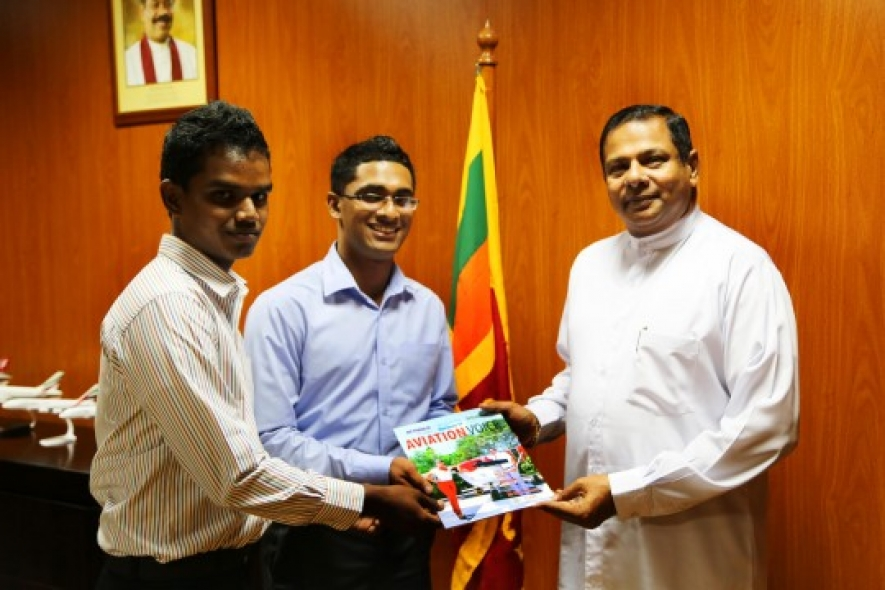 'AVIATION VOICE' Magazine presented to Minister of Civil Aviation…