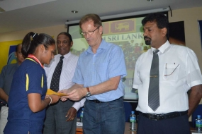 Sri Lanka  felicitates Girls U14 Football Team