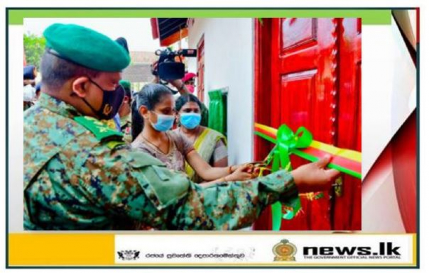 Army vested new home for a Jaffna family