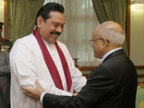 President Rajapaksa and Former Maldivian President in Friendly Talks