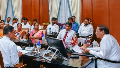 President instructs to promote crop production in Mahaweli