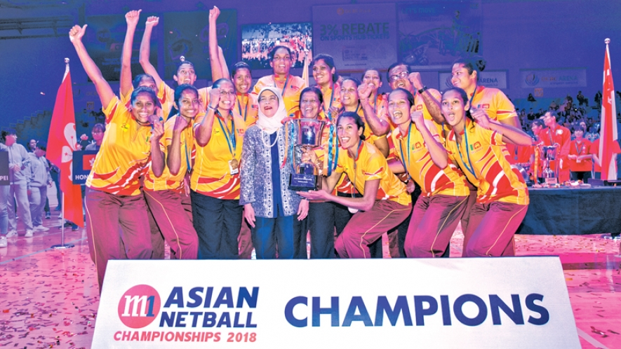 Sri Lanka champions wins the Asian Netball Championships in Singapore