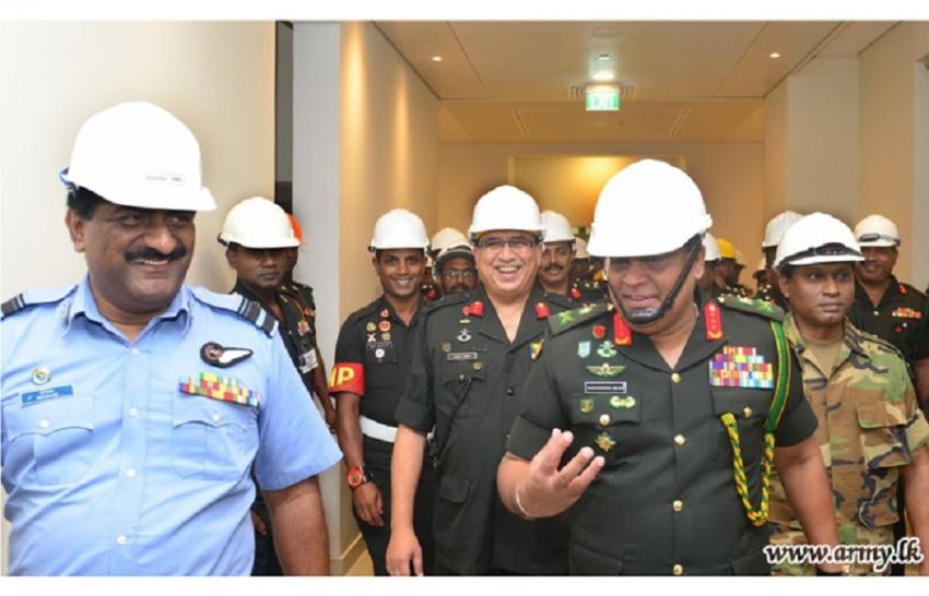 Commander Visits Akuregoda New Defence HQ Complex